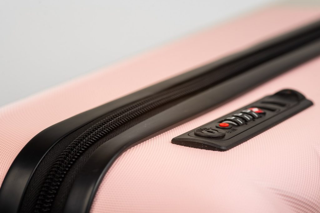 suitcase, pink holiday, travel